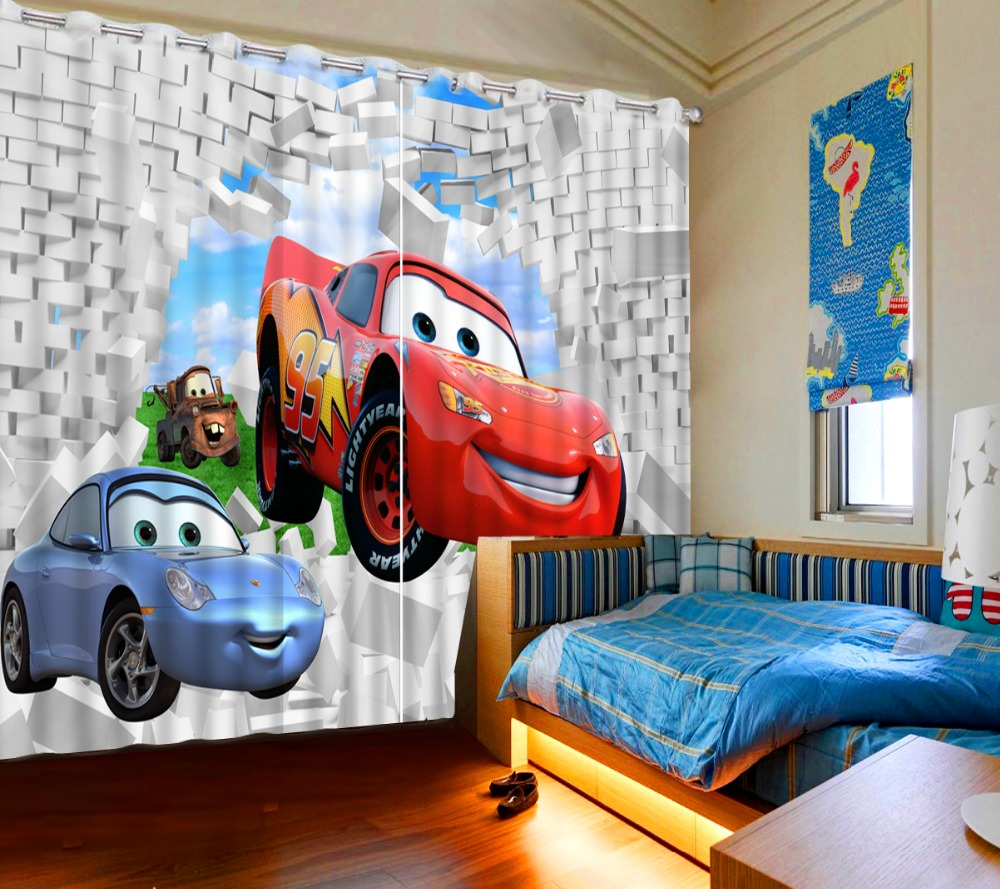 Top Classic 3D European Style Curtains for Drapes Cortinas brick cartoon custom curtains 3D Window Curtains For Bedding room in Curtains from Home Garden
