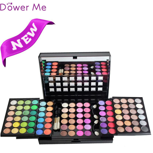 96 Full Pigment Colors 3 Layer Eyeshadow Palette Eyes Make Up Kit Waterproof Eye Shadow Women Lady Cosmetics with Mirror Brushes