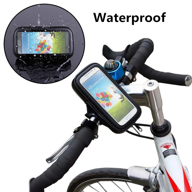 Aliexpress Buy Universal Bike Bicycle Handle Phone Mount Cradle Cell Holder Motorcycle Handlebar Waterproof Bag Case For All CellPhone From