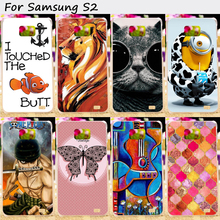 TAOYUNXI Hard Plastic Soft TPU Silicones Phone Cover For Samsung Galaxy SII I9100 S2 GT-I9100 Case Colorful Protective Skin