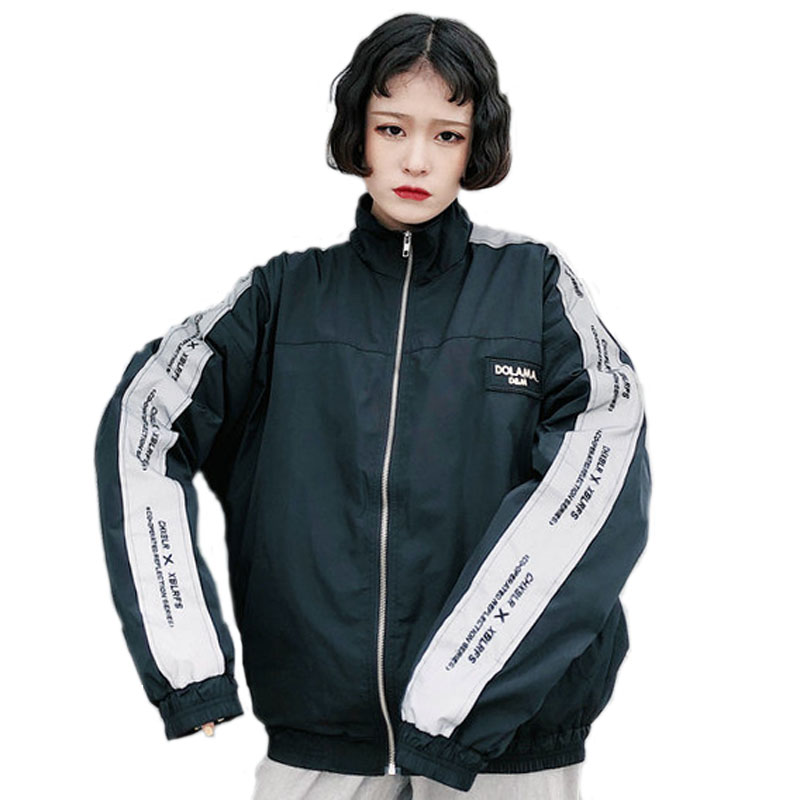 Jacket   Women Windbreaker 2018 Spring Women's   Jacket   Coat Stand Neck Female   Jacket   Fashion Men Ladies   Basic     Jackets   For Women