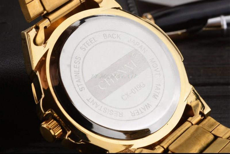 Reloj dorado Nuevo Reloj de oro para hombres Relojes de cuarzo de - Relojes para hombres - foto 6