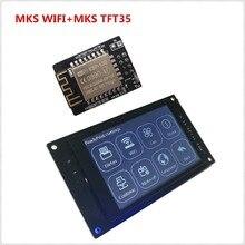 3d yazıcı ekran MKS TFT35 V1.0 dokunmatik ekran + MKS WIFI modülü uzaktan kumanda 3.5 inç LCD panel 3.5 ''TFT renkli displayer