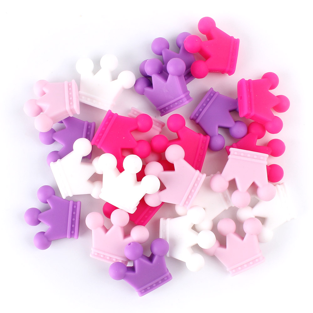 Keep&grow 100Pcs Crown Perle Silicone Beads Food Grade Siliconen Kralen Silicon Baby Teetheing Gifts Products