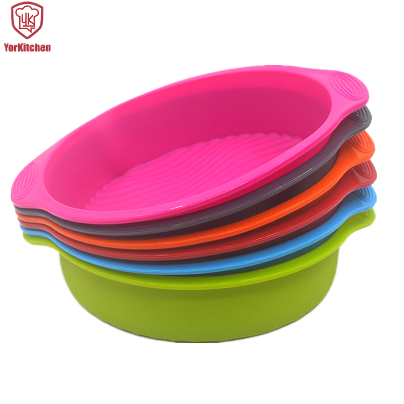 29*24.5*6CM 160G Food Grade Big And Round Shape Silicone Cake Mold For Baking Tools Free Shipping