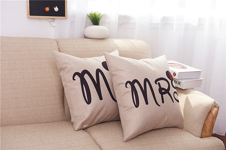 HTB17fFFJVXXXXa6XXXXq6xXFXXXY - Poszewka na poduszkę Mr and Mrs