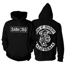 2016 Pullover Männer Winter Sons of Fleece Anarchy Pullover Dicke Hoodie Samcro Starke Schädel Sweatshirt Hip Hop Hoodies Mode