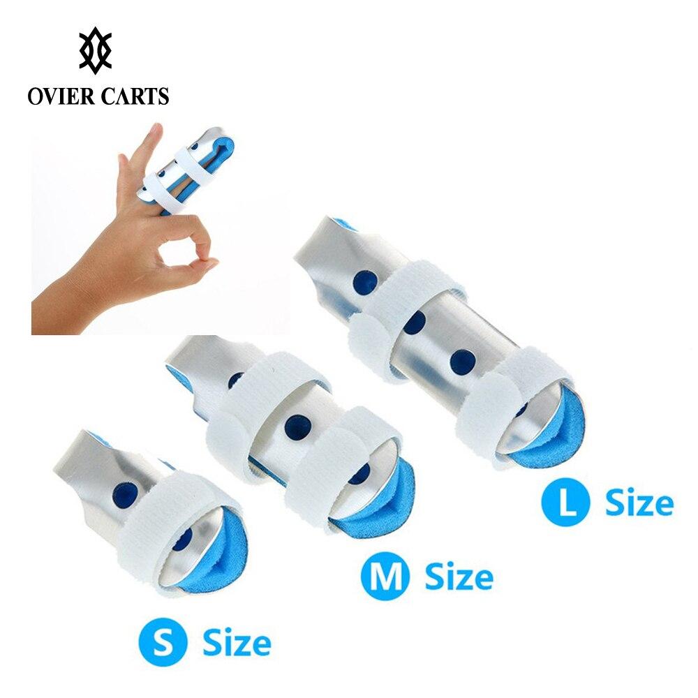 Aluminum & Foam Finger Splint Hand Trigger Support Brace Mallet Broken Finger/Sprain/Fracture/Pain Relief/ Joint Immobilization