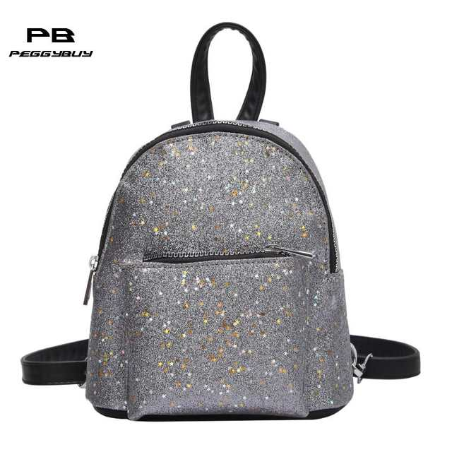 placeholder Glitter Backpack Women Sequins PU Leather Backpacks For Teenage  Girls Rucksack Fashion Brand Gold Black School