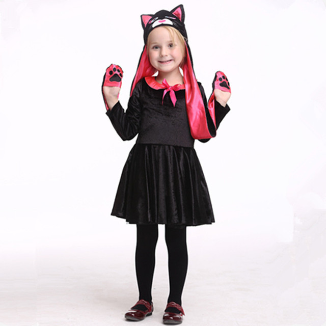 black cat costumes for girls cat cosplay clothing halloween costumes funny animal cosplay for girls  sc 1 st  AliExpress.com : girls halloween cat costumes  - Germanpascual.Com