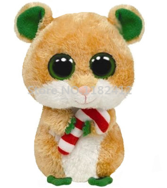ty beanie boos plush animals candy cane christmas hamster mouse cute