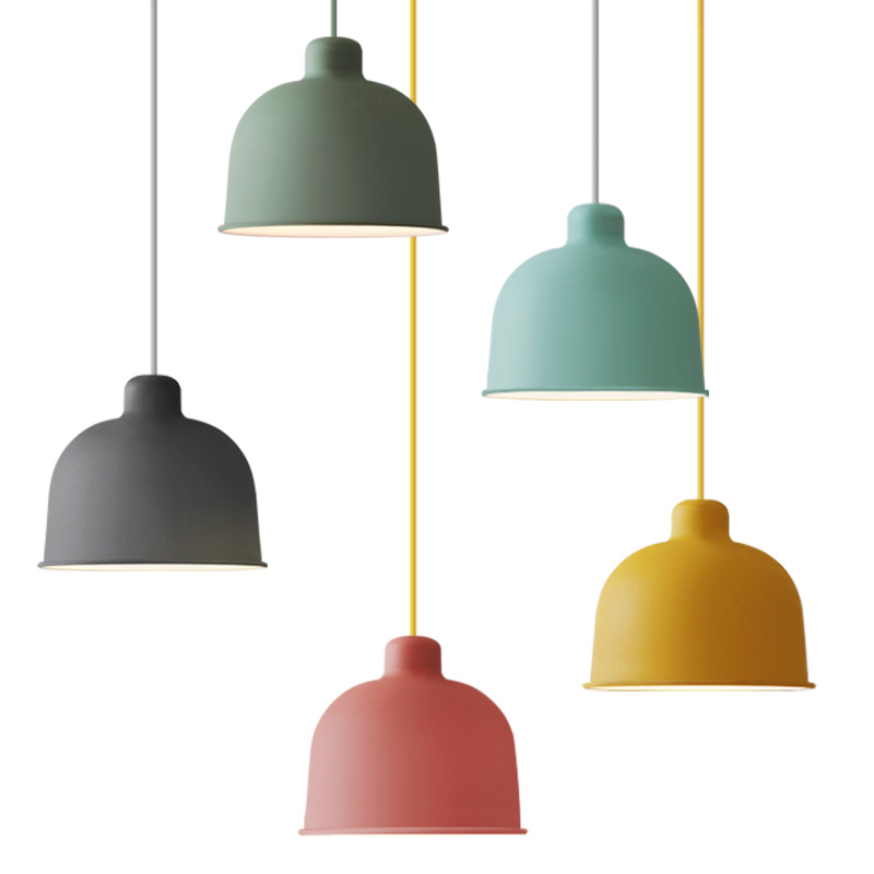 Modern Macarons Pendant Lights nordic Colorful aluminum lampshade Restaurant Kitchen deco Hanging Lighting fixture