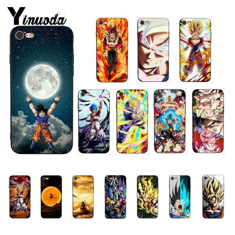 Yinuoda de Dragon Ball Z Super DBZ Goku de lujo de moda diseño único iPhone 7 para iPhone X XS X MAX 6 6 s 7 7 plus 8 8 Plus 5 5S SE XR