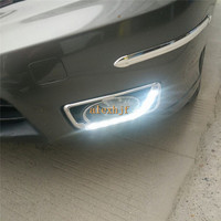 Super Bright LED Daytime Running Lights DRL With Fog Lamp Cover For Honda CITY 2011 ON
