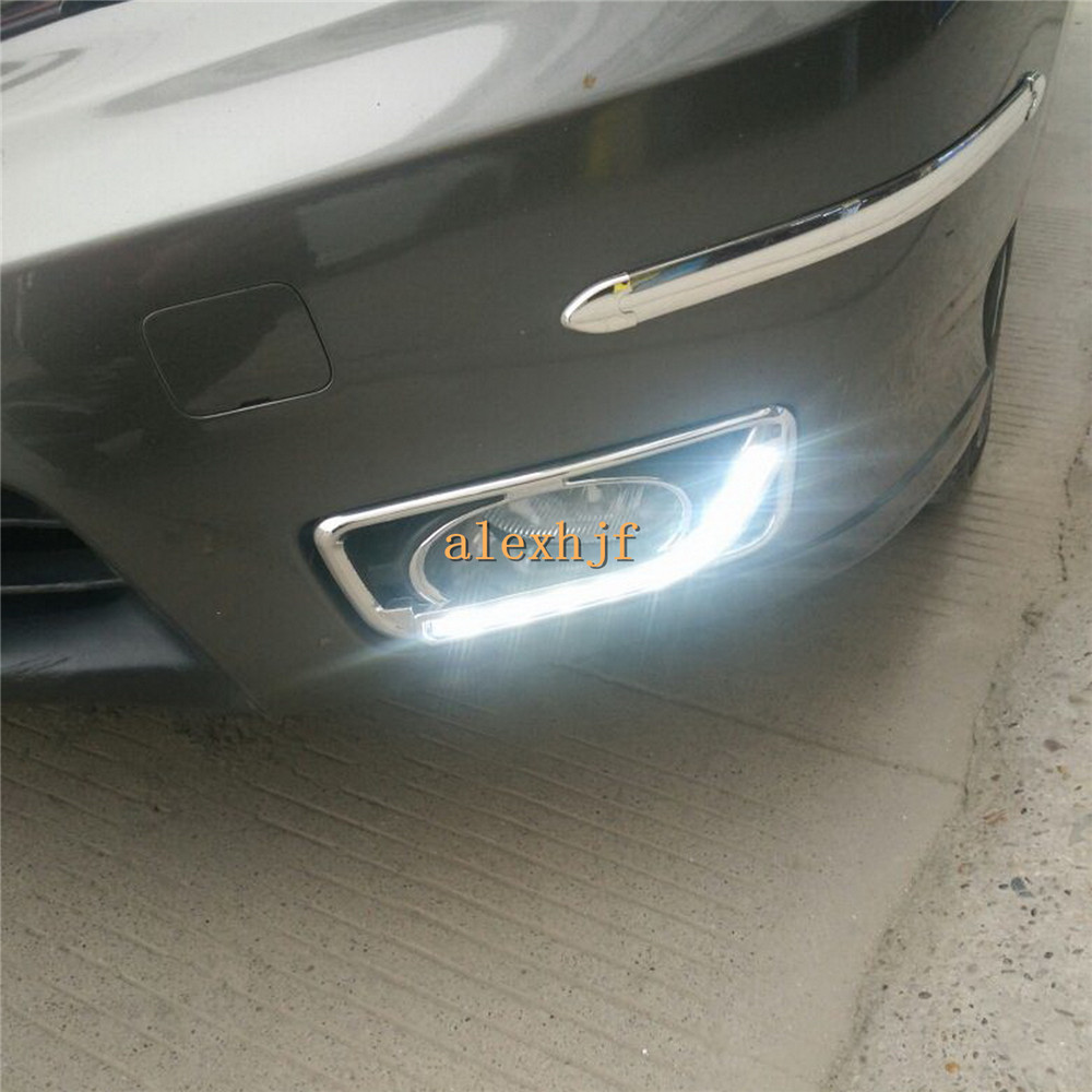 July King LED Daytime Running Lights DRL With Fog Lamp Cover Case For Honda City 2011~14, L Type LED Fog Lamp, 1:1 Free Shipping