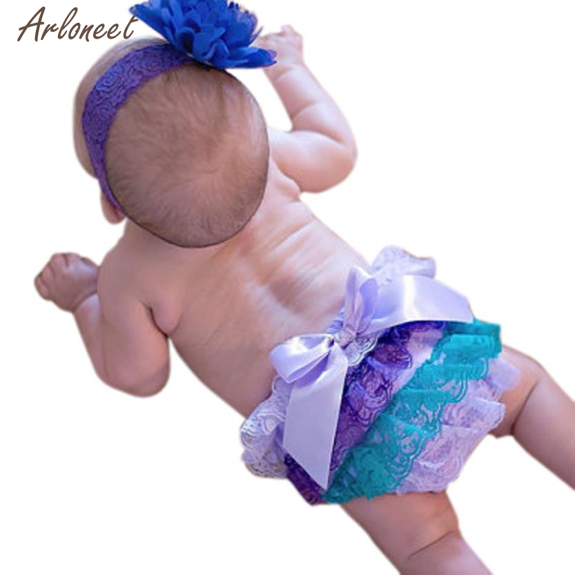 2018 Toddler Baby Infant Girl Lace Ruffle Bloomer Nappy Underwear Panty Diaper Cover MAR16
