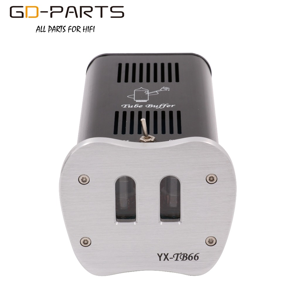 GD-PARTS Mini Stereo 6J1 Vacuum Tube Preamplifier Tube Buffer Processor For AMP Mobile Phone Silver