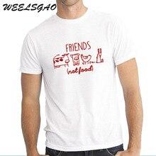 c282c890c WEELSGAO Vegan Shirt Vegetarian T Shirt Tee Mens Gift Present Animal Lover  Statement Tee Animal Rights
