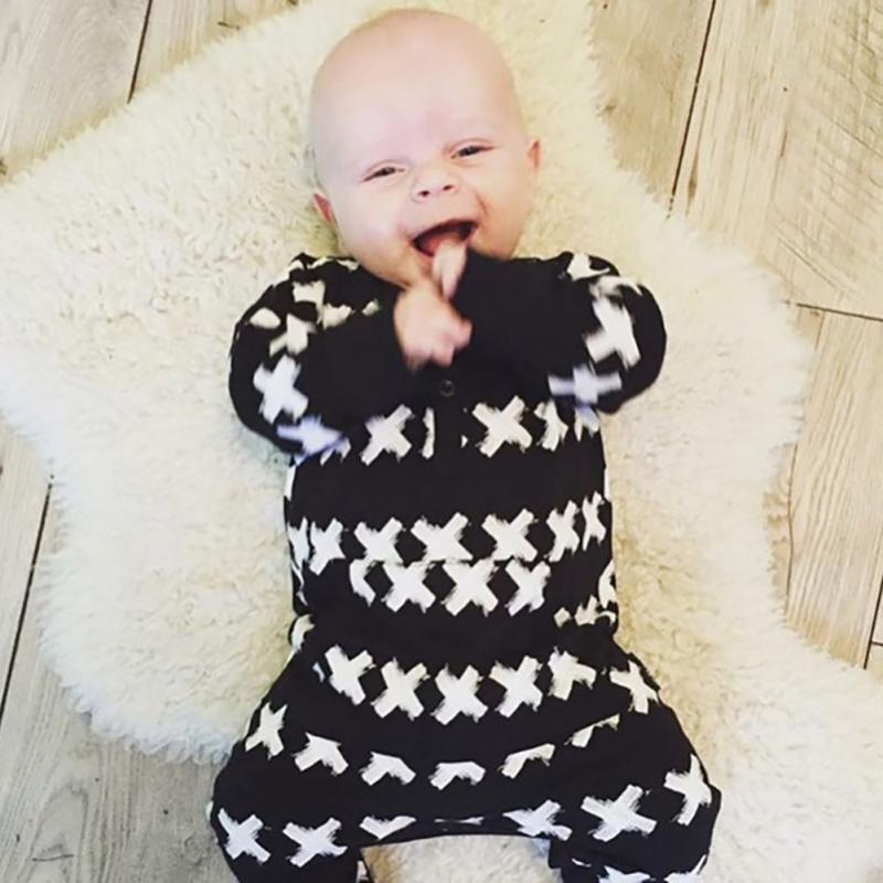 Clearance Autumn Winter Baby Boy Jumpsuits Rompers Cool Long Sleeve Jumpsuits Cotton Infant Clothes Set