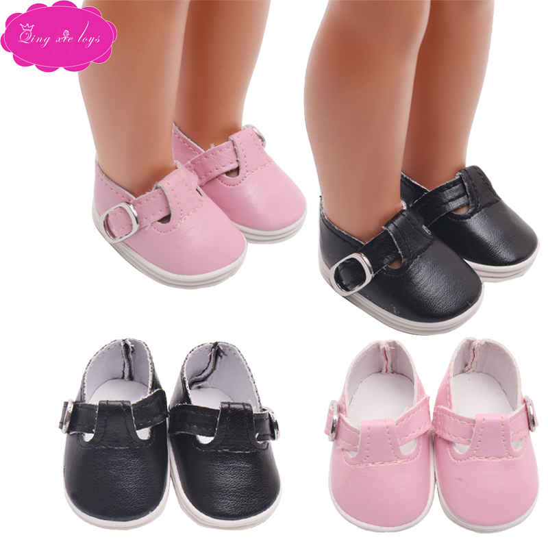 14 5 inch Girls doll shoes fashionable 2 color leather shoes dress shoe fit Babie dolls accessories x15 in Dolls Accessories from Toys Hobbies