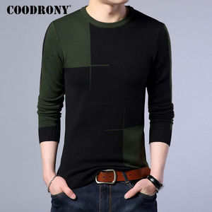 Image 3 - COODRONY 2018 New Autumn Winter Thick Warm Cashmere Sweater Men Casual O Neck Pull Homme Brand Pullovers Mens Wool Sweaters 7185