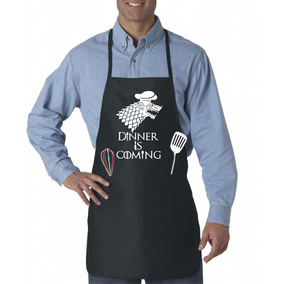 Cooking Apron Dinner Is Coming Game Of Thrones Kitchen Baking BBQ  Apron  2 Front Pockets /3 Color Options Great For GOT Fans