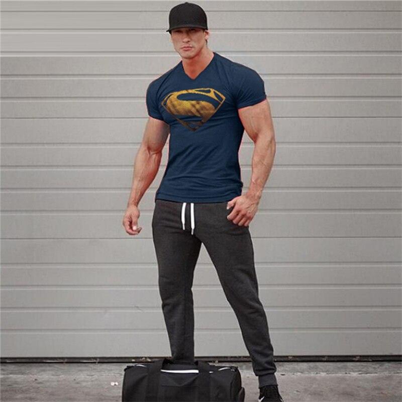 Hot Sale Superman Tryckta T-shirts Men-Kompression T-shirts Slim Fit - Herrkläder - Foto 2
