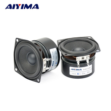 Aiyima 2pcs 2.5 Inch 4Ohm 15W full Range Hifi Woofer Audio Speakers Full frequency Bass Speaker Sound Bass Unit LoudSpeaker