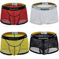 Sexy Mens Boxers Shorts Transparent Mesh See Through Bulge Erotic Underpants Low Rise Man Sex Underwear Gay Boxer Trunk