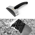 A winter snow shovel high quality PE material stainless steel support Ski Snow eradication of snow and ice tools