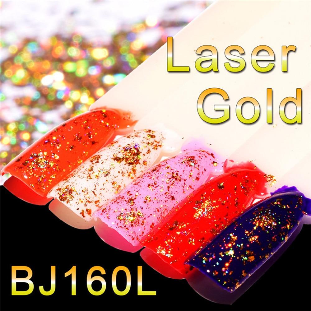 1Pcs 0.1g Mirror Nail Polish Plating Laser Gold Paste Metal Color Gel Stainless Steel DIY Nail Art Powder
