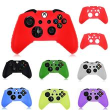 newHigh Quality Silicone Rubber Skin Case Gel Protective Cover For Xbox One Wireless Controller joystick gamepaddrop