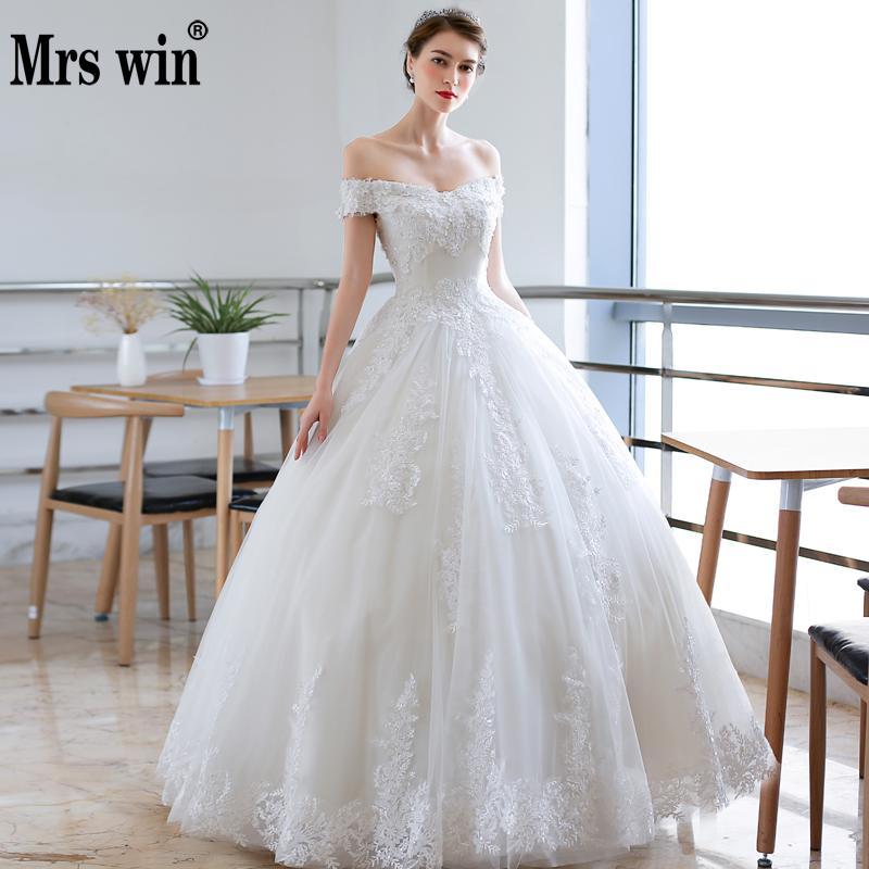 New Arrival Vintage Lace Wedding Dress 2019 Simple