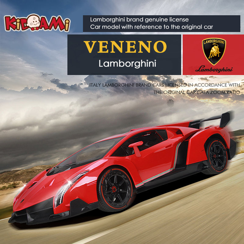 KIDAMI 1:16 remote control car model Lamborghini VENENO rechargeable light drift racing  ...