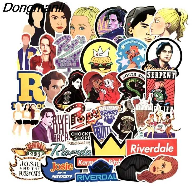 35pcs Riverdale Cool Waterproof Scrapbooking for wall phone luggage laptop bicycle guitar Graffiti Decal album stickers M2987