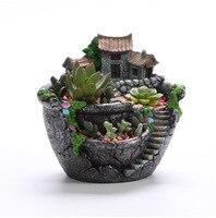 SAFEBETGarden Cactus Succulent Plant Pot Herb Flower Planter Box Nursery Pots Home Room Decor Ornament Garden Tools Supplies