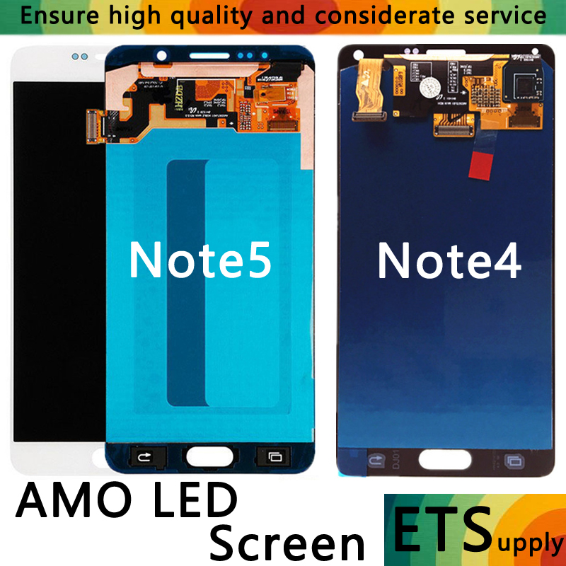 High Quality Super AMOLED Display For Samsung Galaxy Note4 Note 5 N910F N920A N920T N920I N910G P C H Screen LCD Touch Digitizer