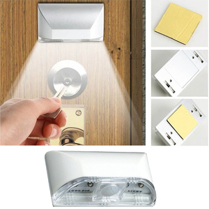 Image 5 - 4 LED Beads Auto PIR Infrared Detection Motion Sensor Home Door Stairway LED Lamp Night Light For Bedroom Kitchen Hallway Stairs
