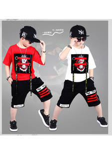 Shorts Boys Tracksuits Clothing-Sets Summer Outfits Hip-Hop 2pieces T-Shirt Kids Cotton