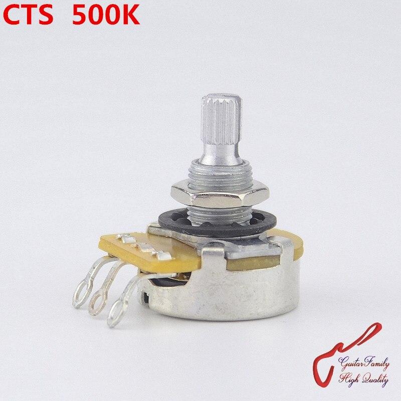 1 шт., большой потенциометр CTS A500K/L500K (B500K) для электрогитары (бас), Сделано в Тайване