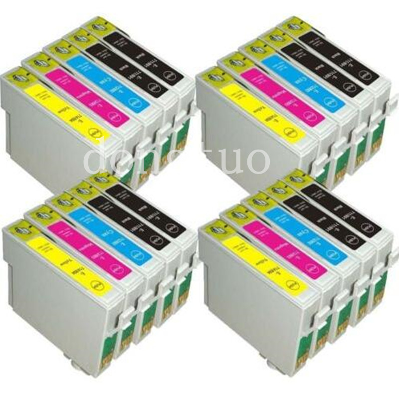 20x Compatible T0711 T0712 T0713 T0714 Ink cartridges for Epson stylus DX8400 DX8450 DX9400 DX9400F with chip