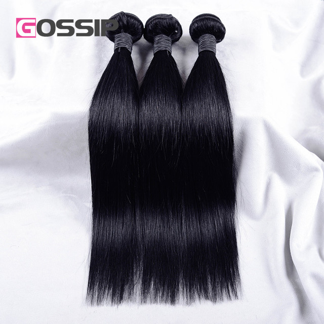Brazilian Virgin Hair Straight Unprocessed Virgin Brazilian Hair Jet Black #1 Human Hair Straight Brazilian Hair Weave Bundles