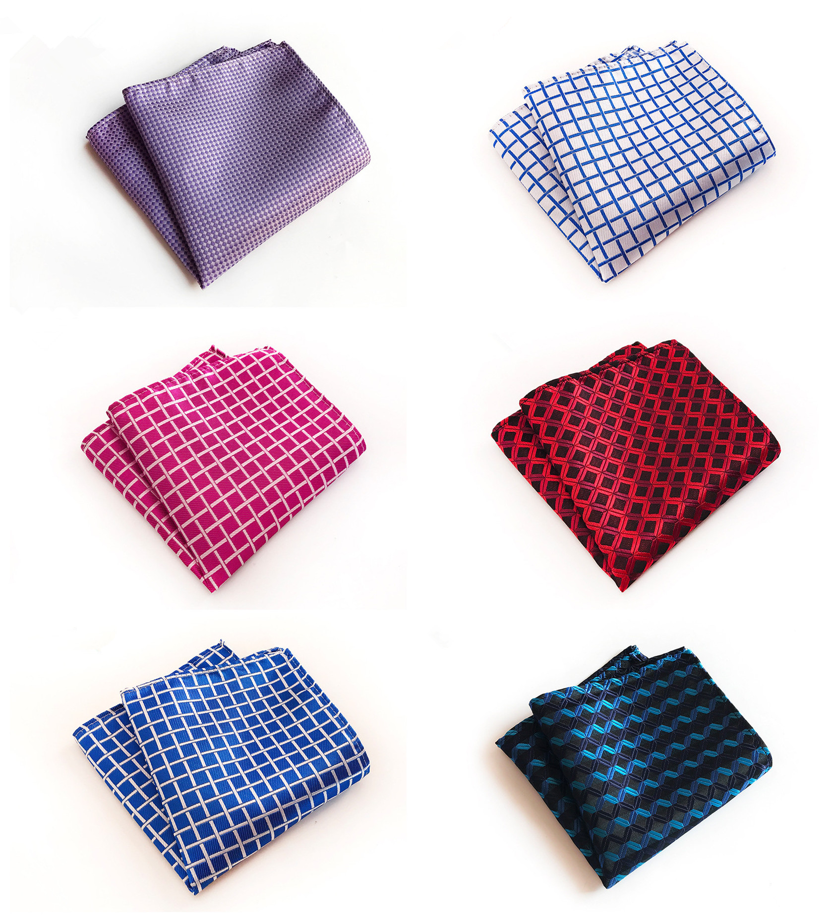 Unique Design Solid Color 25x25cm Polyester Pocket Towel Fashion Explosion Business Dress Decoration Handkerchief Pocket Towel