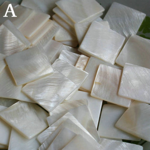 20 Pcs Natural Decorate Inlay Material 25*25mm White Pearl Shell Blanks