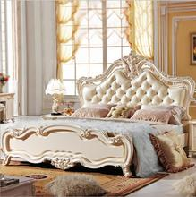 high quality bed Fashion European French Carved bedside 1.8 m p10150