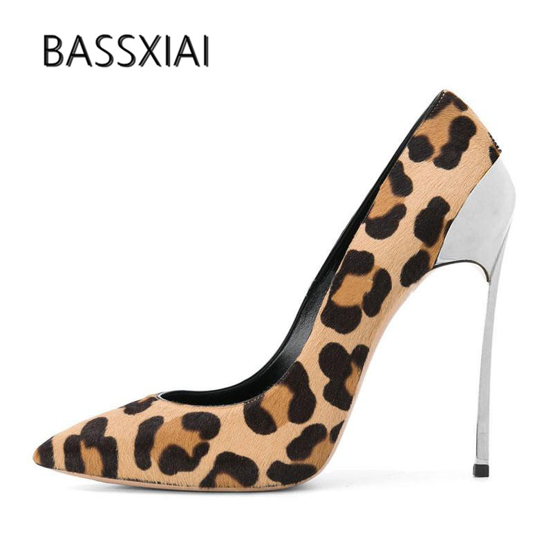 Ferse Spitz Metall Pumpen Hohe Flach Leopard 9cm Pphoto 2019 As 12cm Stiletto Seltsame Mund Photo Frau as Heel Sexy Frauen Heel Rosshaar Schuhe PWt0SY