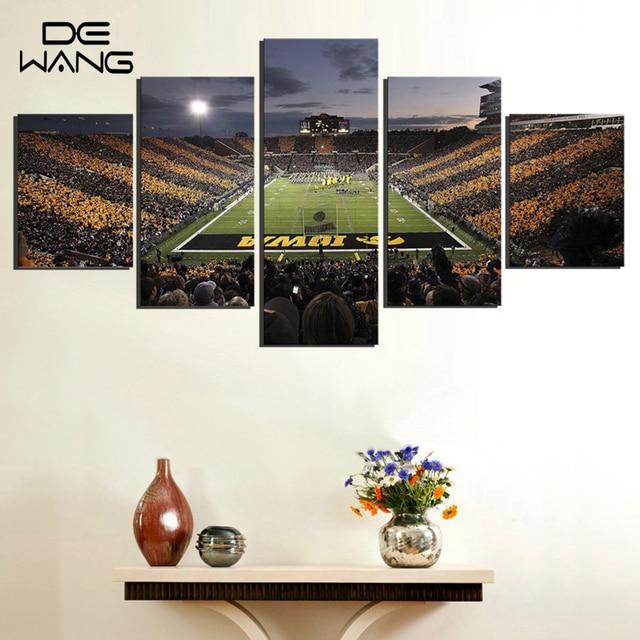 Iowa Hawkeyes Football Ground Pictures Sport Team Framed Wall Art ...