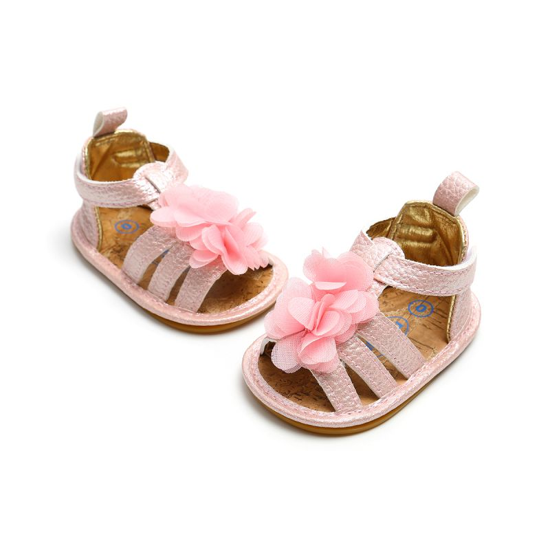 0ecac37de Flower Girl Shoes Newst Summer Baby Girl Sandals 0-18M Fashion Flowers Non- slip Newborn Baby ...