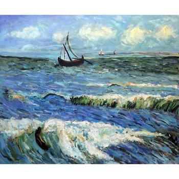 Vincent Van Gogh paintings on Canvas Seascape at Saintes maries hand-painted wall art decor High quality