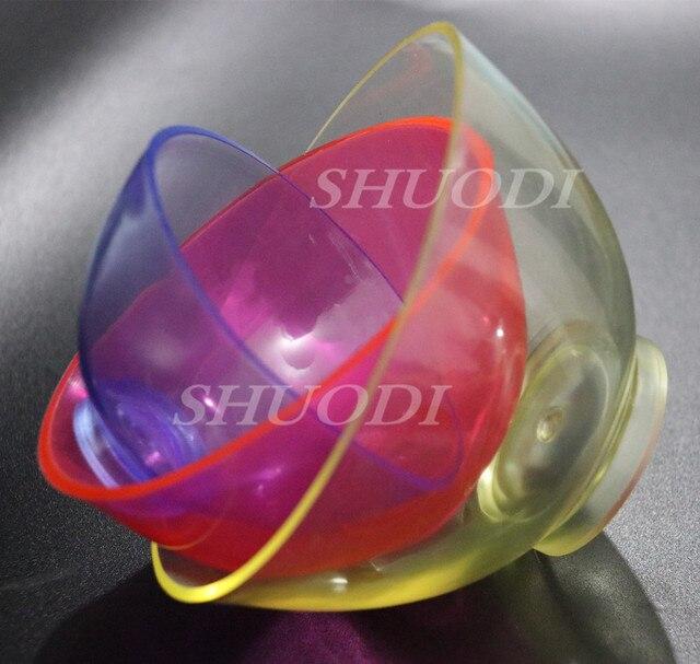 3 piezas de laboratorio Dental de silicona de goma Flexible tazón (Grande Mediano pequeño para su selección) color al azar